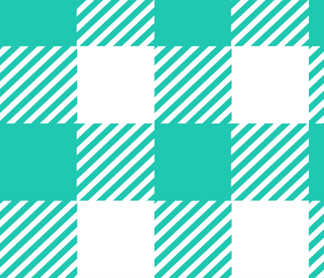 Plaid (Teal) fabric by porshawebb on Spoonflower - custom fabric