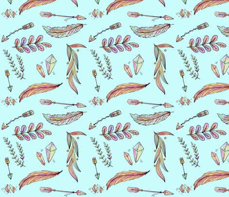 boho 2 fabric by evirose_designs on Spoonflower - custom fabric