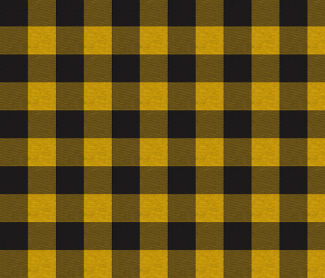 "1.75"" Gold/yellow And Black house check - Buffalo plaid fabric by sugarpinedesign on Spoonflower - custom fabric"
