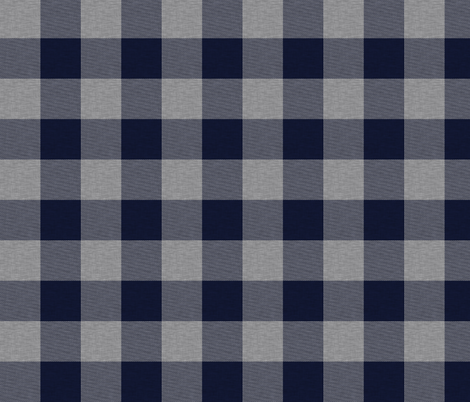 "1.75"" Navy and Grey House Check - Buffalo Plaid fabric by sugarpinedesign on Spoonflower - custom fabric"