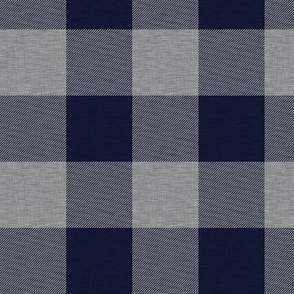 "1.75"" Navy and Grey House Check - Buffalo Plaid"