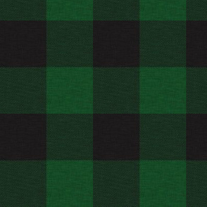 "1.75"" green and black buffalo plaid - house check"