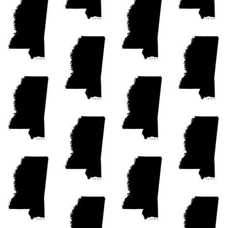 Mississippi // Small fabric by thinlinetextiles on Spoonflower - custom fabric