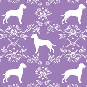 dalmatian floral silhouette dog breed fabric purple