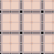 Pink Plaid Check with Blue and Orange Accents