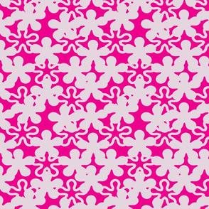 Floral White shades Magenta background