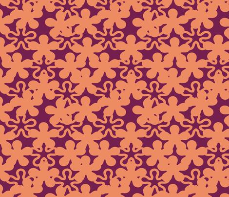 Floral 0range shades purple shades background fabric by mrpeabodydesigns on Spoonflower - custom fabric