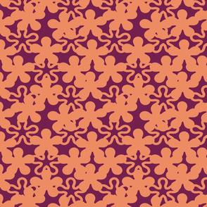 Floral 0range shades purple shades background