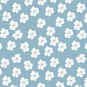 White Lillies On Turquoise