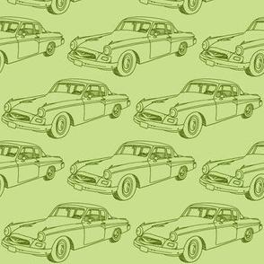 1955 Studebaker in pea soup green