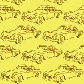 1955 Studebaker (brown on bright yellow)