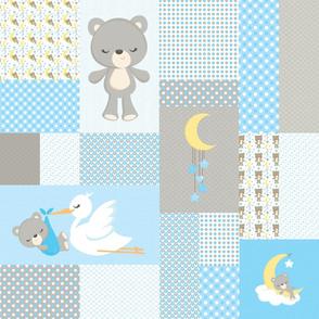 Sleepy Bears Cheater Quilt