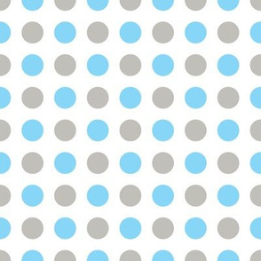 White Multi Dot