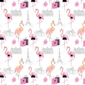 Flamingoes in Paris