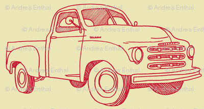 Nifty Fifties 1951 Studebaker Truck (red/yellow)