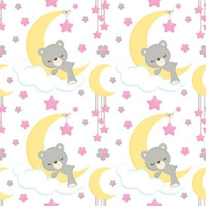 Pink Bears on Moons