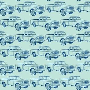 Nifty Sixties Blue Studebaker Champ Truck