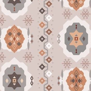 Boho Baby // Middle Eastern Metallic / Nana's Turkish Kilim Carpet in Blush, Copper, Ash, & Snow