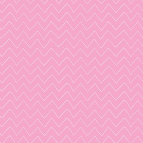 Pink Hand Drawn Chevron