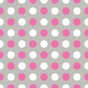 Gray Pink Multi Dot