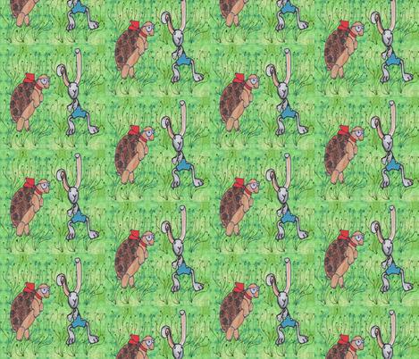 The Tortoise and the Hare fabric by tatjana_melikhova on Spoonflower - custom fabric