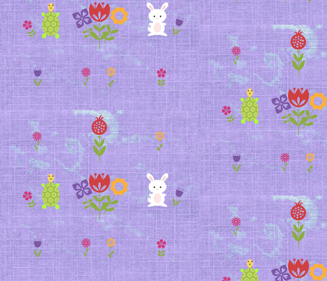 Hippity Hop at a Tortoise's Pace fabric by bent_line_designs on Spoonflower - custom fabric