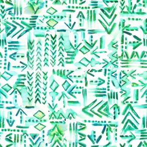 Tapa tribal green
