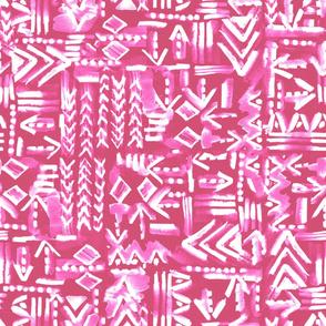tapa tribal pink