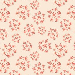 Funky Vintage Floral // Starburst Floral // Queen Anne's Lace in Salmon + Magenta