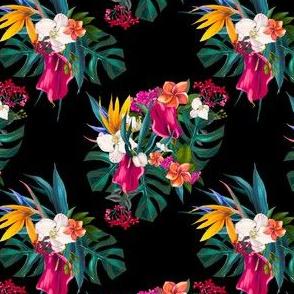 """4"""" Love Summer Florals - Black"""