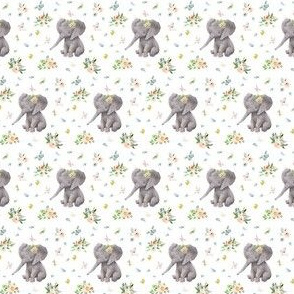 "1.5"" Spring Time Baby Elephant"