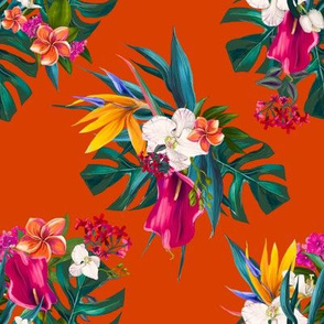 "8"" Love Summer Florals - Tropical Orange"