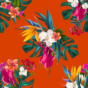 "18"" Love Summer Florals - Tropical Orange"