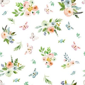 """8"""" Spring Time Bunny Florals"""