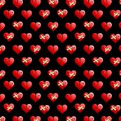 mended broken heart black small
