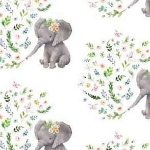 "4"" Spring Time Baby Elephant / MIX & MATCH 1"