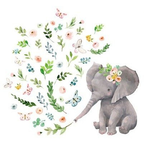 "8"" Spring Time Baby Elephant / MIX & MATCH 1"