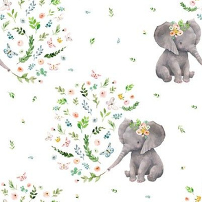 "8"" Spring Time Baby Elephant/ MIX & MATCH 2"