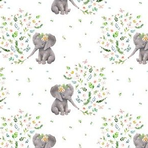 """4"""" Spring Time Baby Elephant / MIX & MATCH 2"""