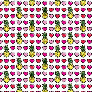 aloha pineapple and hearts