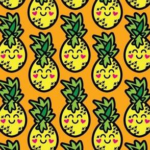 aloha pineapple on orange