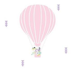 Floral Hot Ait Balloon Baby Girl