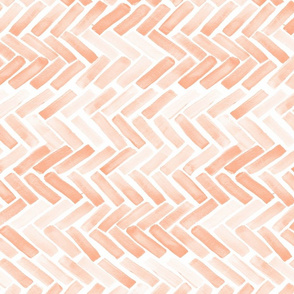 Pale blush watercolor herringbone 90 deg
