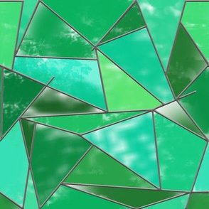 Stained glass Abstract geometic green