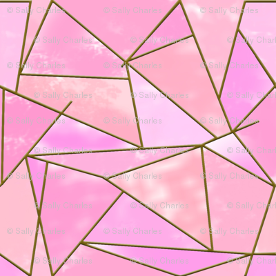 Geometric Abstract pink