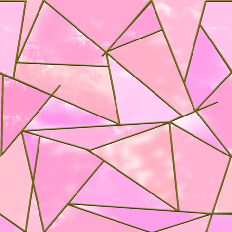 Geometric Abstract pink fabric by elysium_design on Spoonflower - custom fabric