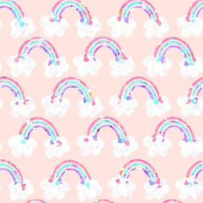 rainbows everywhere - peach
