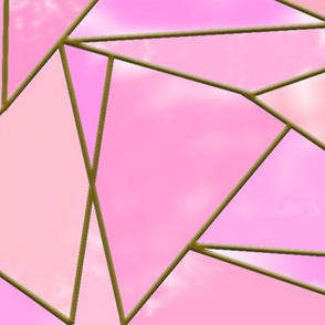 stained glass geometric pink BIG