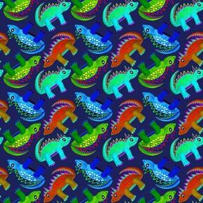 Dino Boys Navy (Red, Blue & Green)