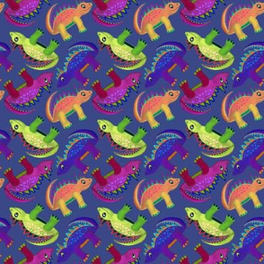 Dino Girls - Gray Blue and Purple
